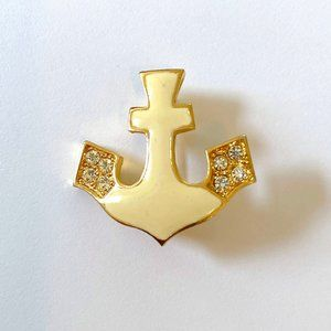 RARE Vintage St John Anchor Brooch